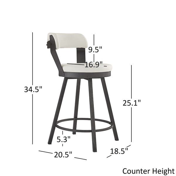 Magnificent Shop Harley Faux Leather And Metal Swivel Stools Set Of 2 Ocoug Best Dining Table And Chair Ideas Images Ocougorg