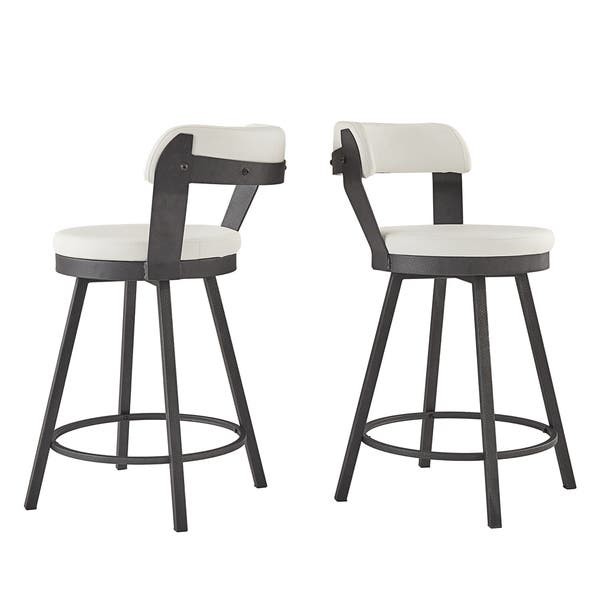 Remarkable Shop Harley Faux Leather And Metal Swivel Stools Set Of 2 Uwap Interior Chair Design Uwaporg
