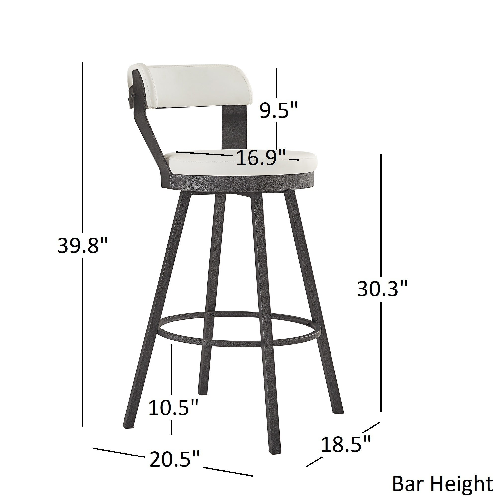 Superb Harley Faux Leather And Metal Swivel Stools Set Of 2 By Inspire Q Modern Machost Co Dining Chair Design Ideas Machostcouk