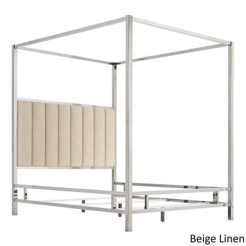 Solivita Vertical Channel Chrome Metal Canopy Bed by iNSPIRE Q Bold