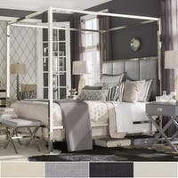 Solivita Chrome Metal Poster Bed with Vertical Panel Headboard by iNSPIRE Q Bold