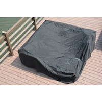 Plus Large 106 x 106 x 28-inch Square Dining Set Garden Patio Furniture Cover by Direct Wicker