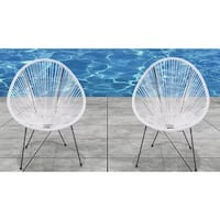 Acapulco White Resort-grade Chairs (Set of 2)