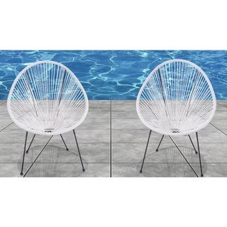 Source outdoor furniture Wicker Furniture Acapulco White Resortgrade Chairs set Of 2 Patioliving Living Source International Patio Furniture Find Great Outdoor