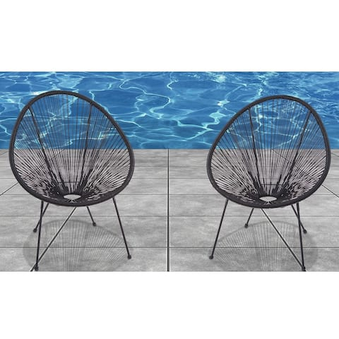 Acapulco Black Resort-grade Chairs (Set of 2)