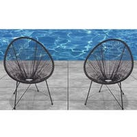 Acapulco Black Resort-grade Chairs (Set of 2)