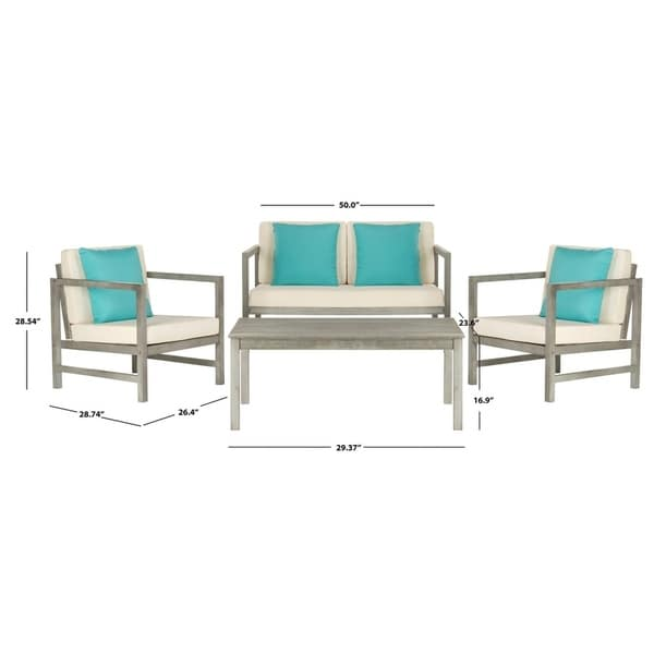 Shop Safavieh Outdoor Living Montez Grey Wash/White/Light ... on Safavieh Outdoor Living Montez 4 Piece Set id=64980