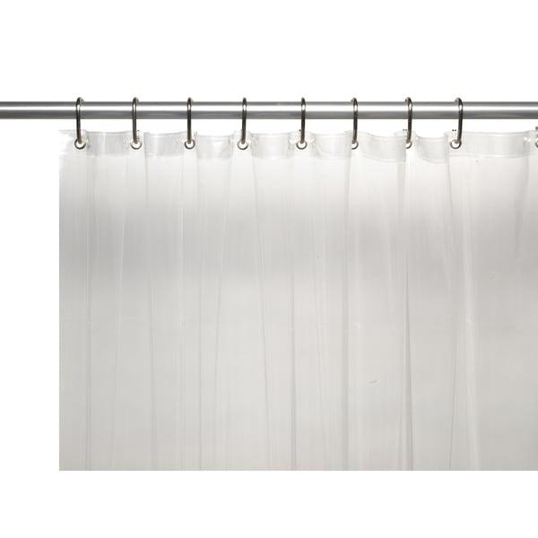 American Crafts Extra Long Heavy 8 Gauge Vinyl Shower Curtain Liner
