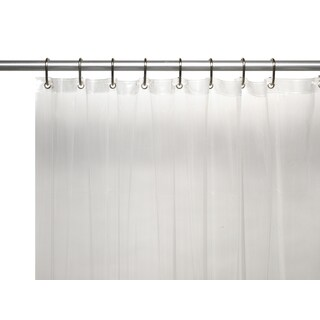 American Crafts Extra Long Heavy 8 Gauge Vinyl Shower Curtain Liner