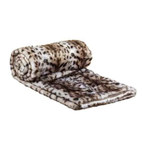 Jaguar Faux Fur Throw Blanket