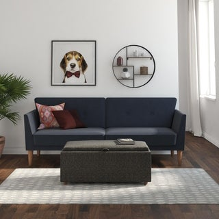 Novogratz Regal Blue Linen Futon