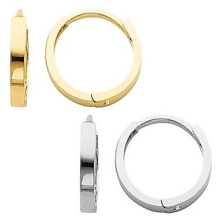 14k Yellow or White Gold  Small Hinged Hoop Earrings