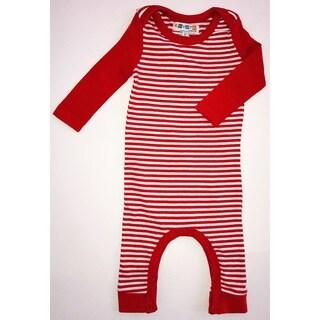 Red striped romper