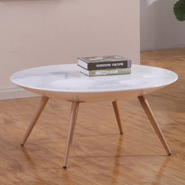 Merveilleux Best Quality Furniture High Gloss White 2 Piece Coffee And End Table Set