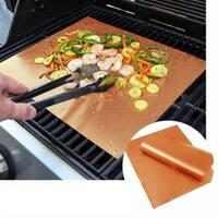 2 Pack Copper Grilling Mats - Grill Accessories - BBQ Grills Mats