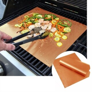 2 Pack Copper Grilling Mats - Grill Accessories - BBQ Grills Mats
