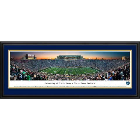 Notre Dame Football Blakeway Panoramas Framed Print