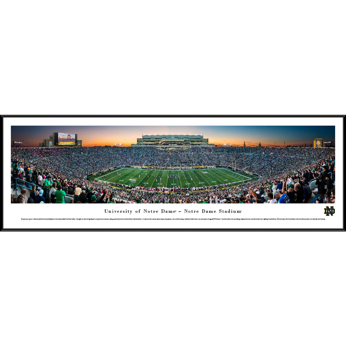 Notre Dame Football Blakeway Worldwide Panoramas Framed Panoramic Picture Inc