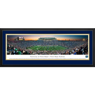Notre Dame Football Blakeway Panoramas Framed Print