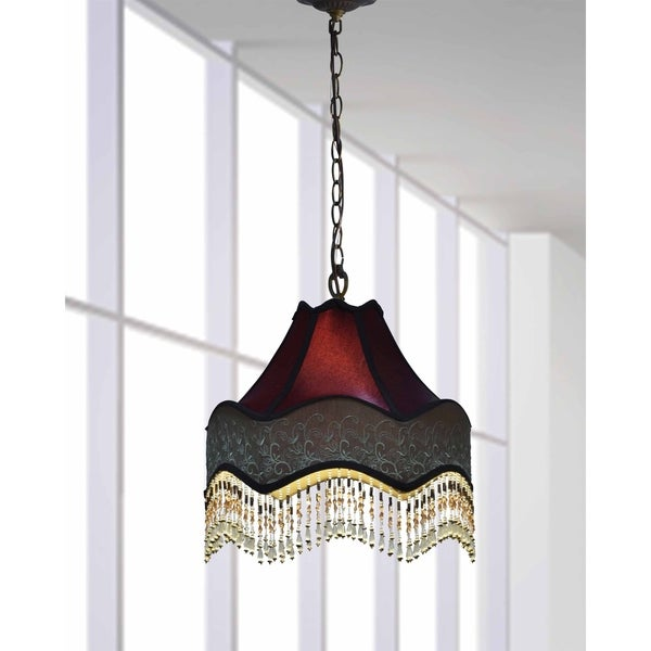 Shop Springdale 15 5 W Beaded Ruby Victorian Pendant On Sale