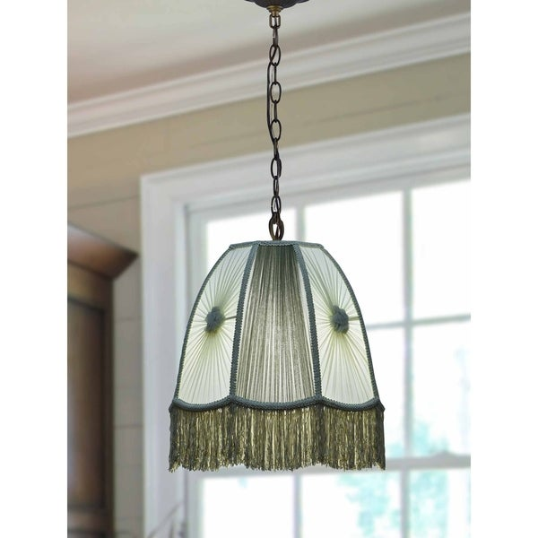 """Springdale 14""""W Russell Green Victorian Pendant"""