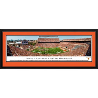 Texas Longhorns Football - Blakeway Panoramas College Football Framed Print