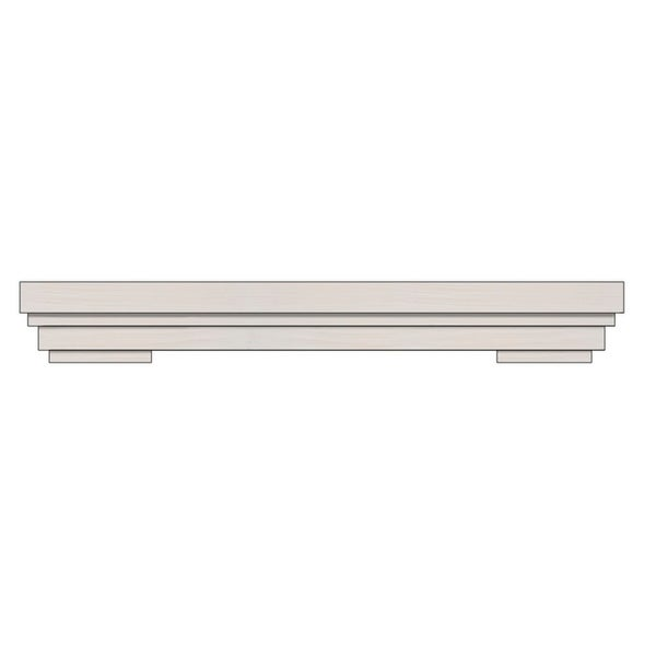 Ornamental Designs Cambridge Satin White Wood Fireplace Mantel