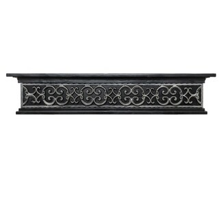 Ornamental Designs Tuscany Black Stained Finish Fireplace Mantel