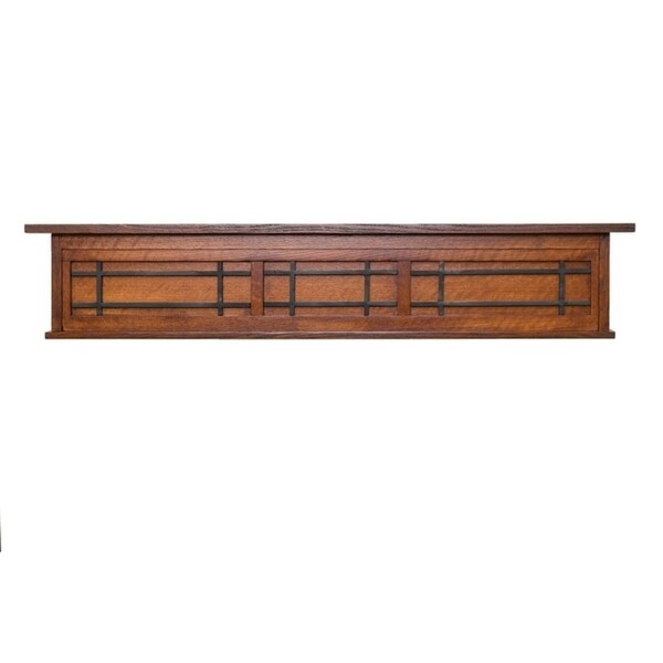 Ornamental Designs Belisario Cherry Solid Oak Wood and Black Matte Fireplace Mantel