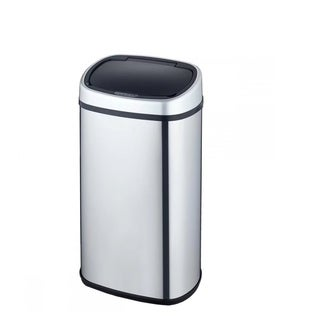 New 18-Gallon Touch-Free Sensor Automatic Stainless-Steel Trash Can Kitchen