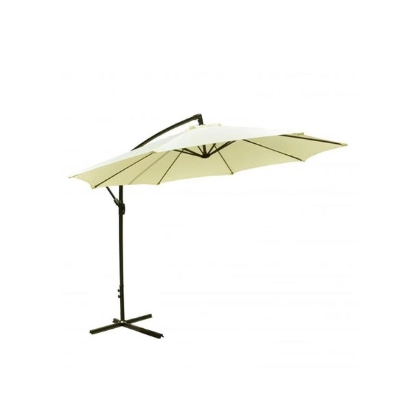 Exceptional Beige Patio Umbrella 10u0026#x27; Hanging Umbrella Outdoor Market Umbrella