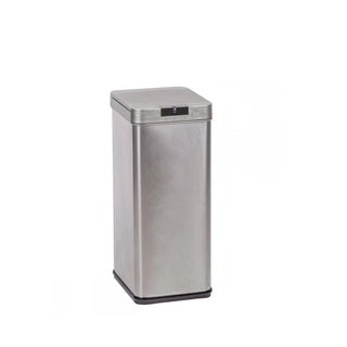 13 Gallon Automatic Sensor Touch Free Trash Can Stainless Steel