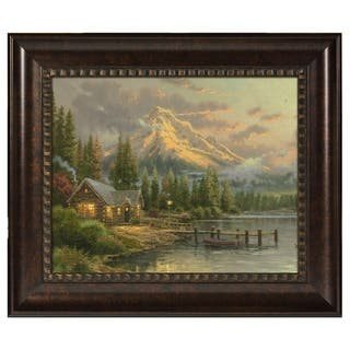Thomas Kinkade Lakeside Hideaway 16 x 20 Brushstroke Vignette|https://ak1.ostkcdn.com/images/products/18728458/P24804113.jpg?impolicy=medium