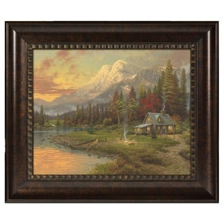 Thomas Kinkade Evening Majesty 16 x 20 Brushstroke Vignette