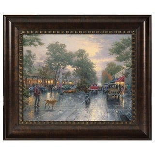 Thomas Kinkade Carmel, Sunset on Ocean Ave 16x20 Brushstroke Vignette