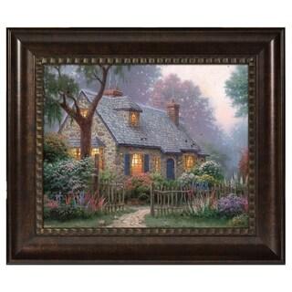 Thomas Kinkade Foxglove Cottage 16 x 20 Brushstroke Vignette