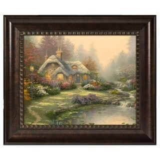 Thomas Kinkade Everett's Cottage 16 x 20 Brushstroke Vignette
