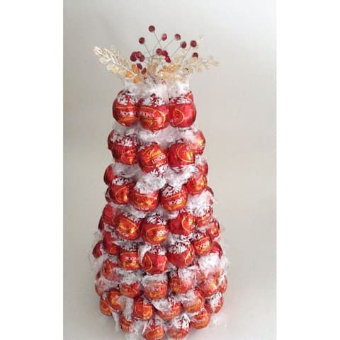Red Style Lindt Truffle Candy Bouquet Tree