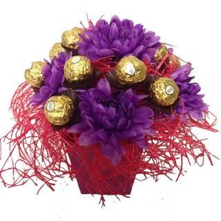 Verbena Ferrero Rocher Candy Bouquet