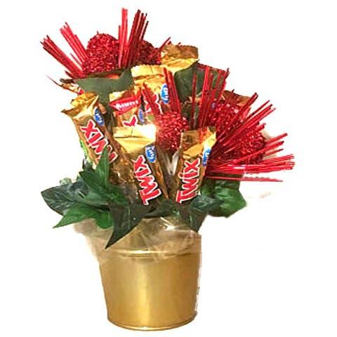 Tis the Season Twix Candy Bouquet