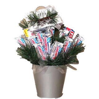 Happy Holidays Three Musketeers Candy Bouquet