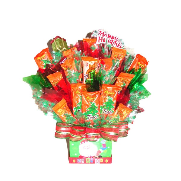 merry christmas reese candy bouquet - Christmas Candy Bouquet