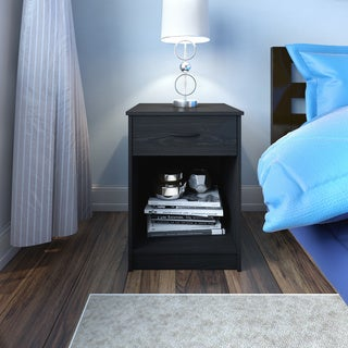 Porch & Den Kinzie Black Ebony Ash Nightstand