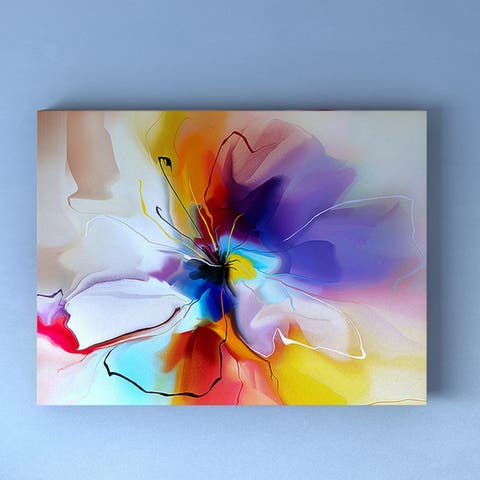 Porch & Den 'Creative Flower in Multiple Colors' Abstract Floral Canvas Print