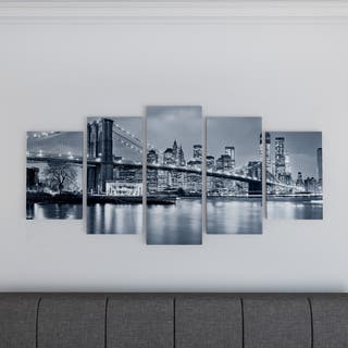Porch & Den 'Panorama New York City at Night' Cityscape Canvas Print|https://ak1.ostkcdn.com/images/products/18729384/P19070865.jpg?impolicy=medium