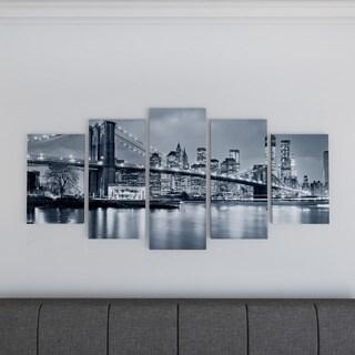 Porch & Den 'Panorama New York City at Night' Cityscape Canvas Print