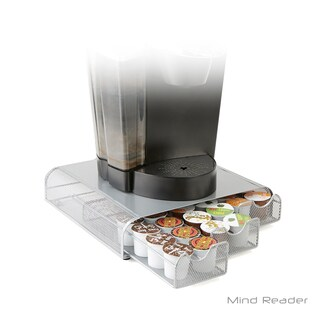 Mind Reader Triple Drawer Mesh K-Cup Single Serve Coffee Pod Drawer, Silver