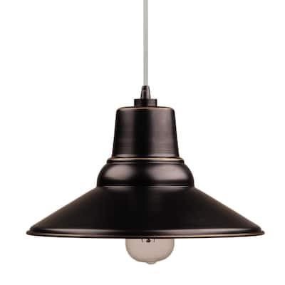 AA Warehousing Aria 1 Light Outdoor Pendant in Imperial Black