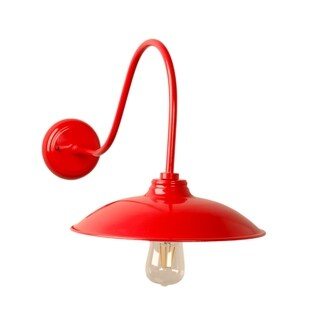 Y-Decor Riley 1 Light Exterior Wall light in Red