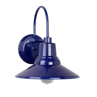 Y-Decor Shelby 1 Light Exterior Wall light in Blue